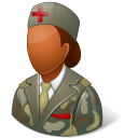 Medical Army Nurse Female Dark icon