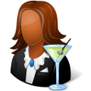 Occupations-Bartender-Female-Dark icon
