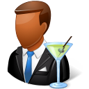 Occupations Bartender Male Dark icon