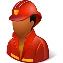 Occupations-Firefighter-Male-Dark icon