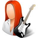 Occupations-Guitarist-Female-Light icon