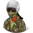 Occupations-Pilot-Military-Female-Dark icon