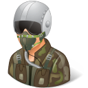 Occupations Pilot Military Male Light icon
