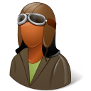 Occupations Pilot OldFashioned Female Dark icon