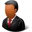 Office Customer Male Dark icon