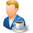 Rest Person Coffee Break Male Light icon