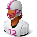 Sport-Football-Player-Female-Dark icon