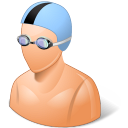 Sport-Swimmer-Male-Light icon