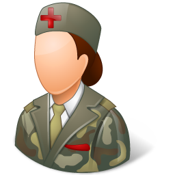Medical Army Nurse Female Light icon