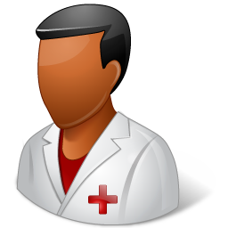 Medical Nurse Male Dark icon