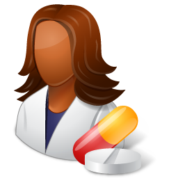 Medical Pharmacist Female Dark icon