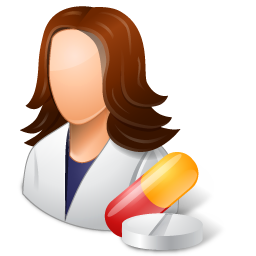 Medical Pharmacist Female Light icon