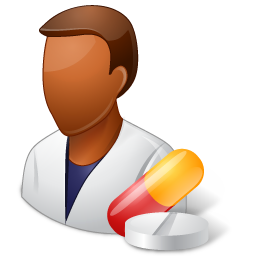 Medical Pharmacist Male Dark icon