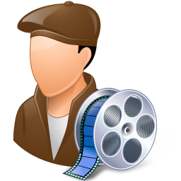 Occupations Film Maker Male Light icon