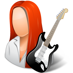 Occupations Guitarist Female Light icon