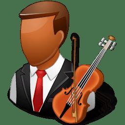 Occupations Musician Male Dark icon