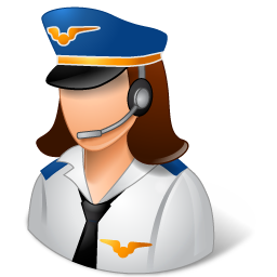 Occupations Pilot Female Light icon