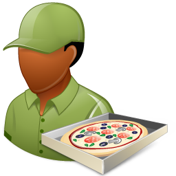 Occupations Pizza Deliveryman Male Dark icon