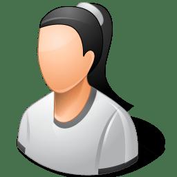 Person Female Light icon