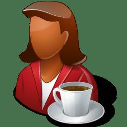 Rest Person Coffee Break Female Dark icon