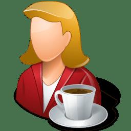 Rest Person Coffee Break Female Light icon
