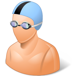 Sport Swimmer Male Light icon