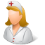 Medical Nurse Female Light icon