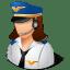 Occupations-Pilot-Female-Light icon