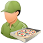 Occupations Pizza Deliveryman Male Light icon