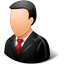 Office Customer Male Light icon