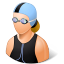 Sport Swimmer Female Light icon