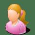 Age-Child-Female-Light icon