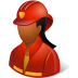 Occupations-Firefighter-Female-Dark icon