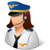 Occupations-Pilot-Female-Light icon