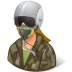 Occupations-Pilot-Military-Female-Light icon