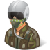 Occupations-Pilot-Military-Male-Light icon