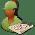 Occupations-Pizza-Deliveryman-Female-Dark icon