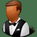 Occupations-Waiter-Male-Dark icon