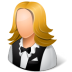 Occupations-Waitress-Female-Light icon