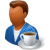 Rest-Person-Coffee-Break-Male-Dark icon