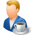 Rest-Person-Coffee-Break-Male-Light icon