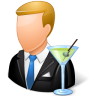 Occupations-Bartender-Male-Light icon