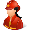 Occupations-Firefighter-Female-Light icon