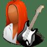 Occupations-Guitarist-Female-Dark icon