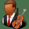 Occupations-Musician-Male-Dark icon