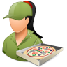 Occupations-Pizza-Deliveryman-Female-Light icon