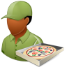Occupations-Pizza-Deliveryman-Male-Dark icon