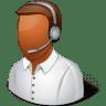 Occupations-Technical-Support-Representative-Male-Dark icon