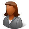 Office-Client-Female-Dark icon