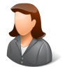 Office-Client-Female-Light icon